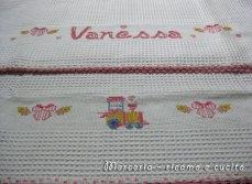 Coppia-asciugamani-in-cotone-nido-d'ape-con-treno-per-Vanessa3