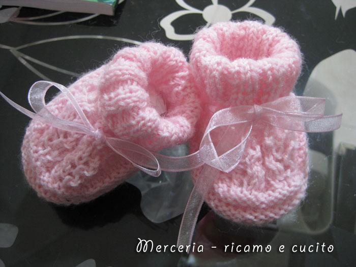 Popolare Scarpette neonata di lana ai ferri   Gift DN84