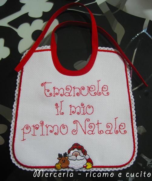 """Bavetta per Emanuele """"il mio primo Natale""""   GIFT - Ricamo e"""
