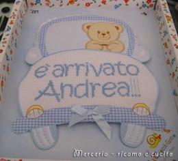 coccarda-fiocco-nascita-macchina-per-Andrea1