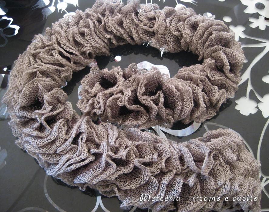 Sciarpa con lana volant a rete grigia gift for Rete ombreggiante grigia