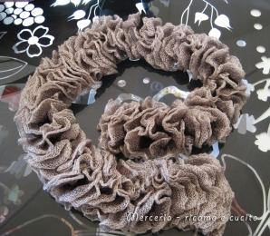 Sciarpa con lana volant a rete grigia gift ricamo e cucito for Rete ombreggiante grigia