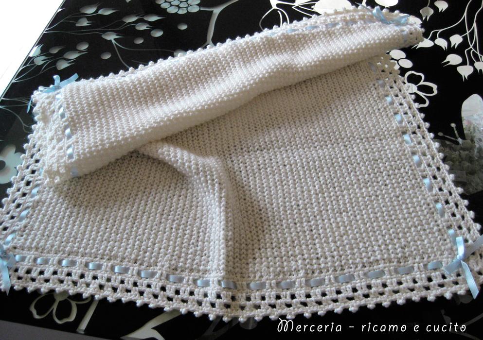 abbastanza Copertina panna in lana per neonato | Gift RW04