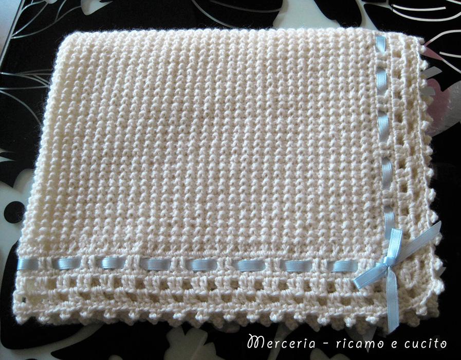 Famoso Copertina panna in lana per neonato | Gift TM62