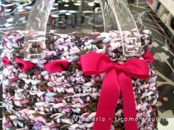 Borsa-in-fettuccia-miscelata-rosa-1
