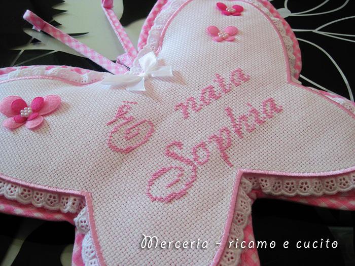 Fiocco nascita farfalla per Sophia | GIFT - Ricamo e cucito