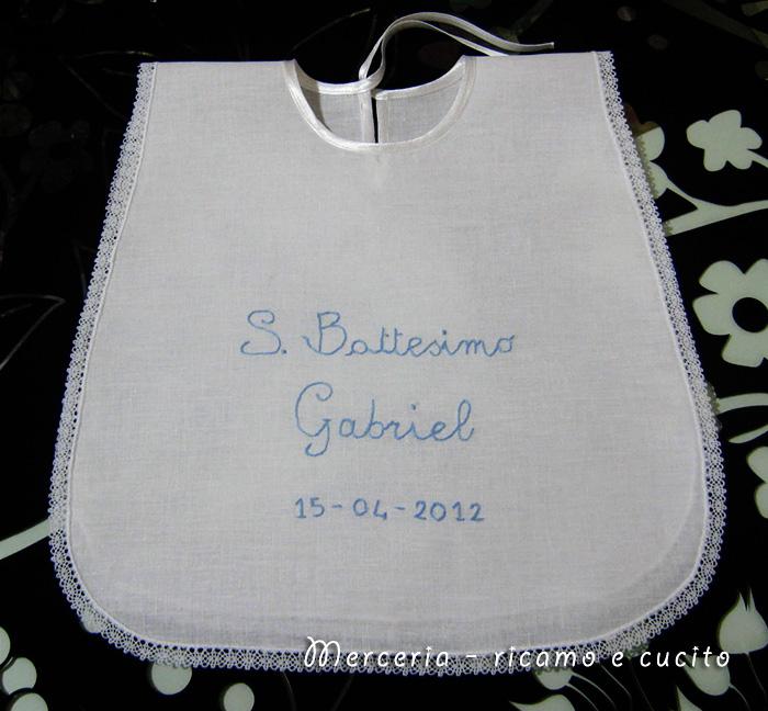 Molto Bavaglino Battesimo per Gabriel | Gift QT71