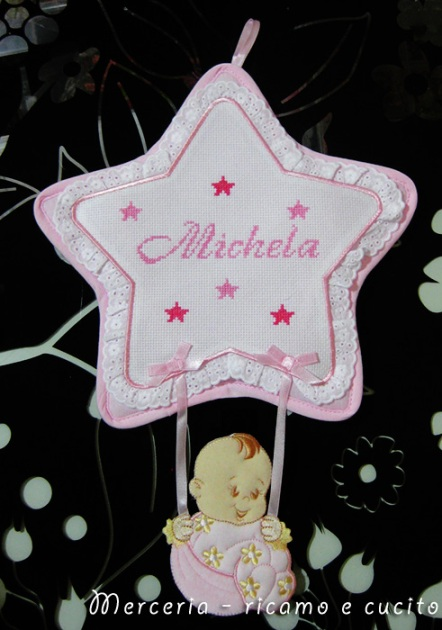 Fiocco nascita stella per Michela