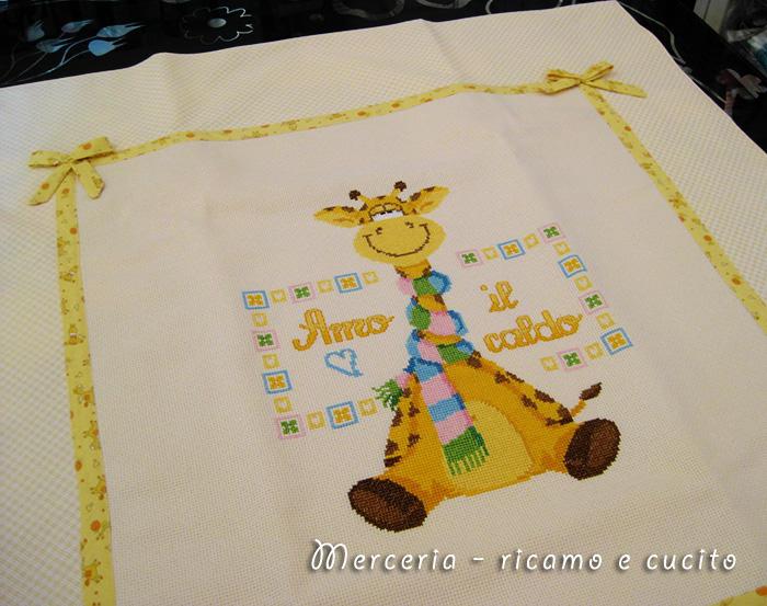 Copripiumino per culla con giraffa gift for Giraffa punto croce