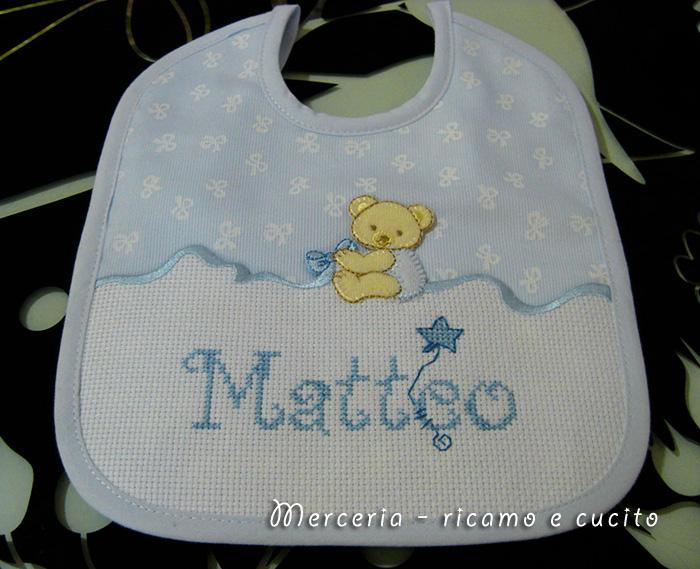 Super Bavetta con orsacchiotto per Matteo | Gift EC98