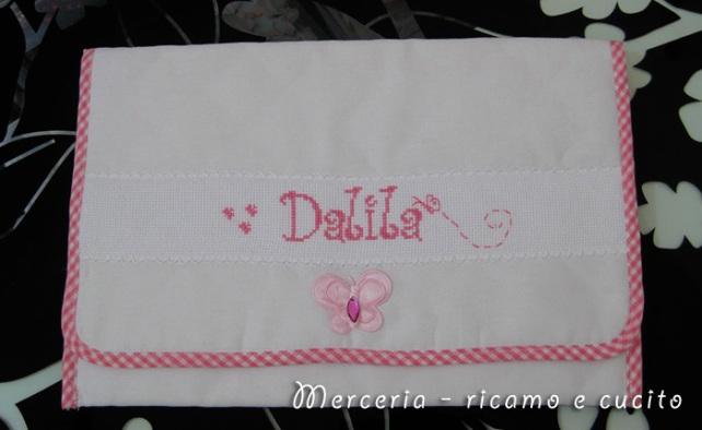Busta portaoggetti rosa per Dalila