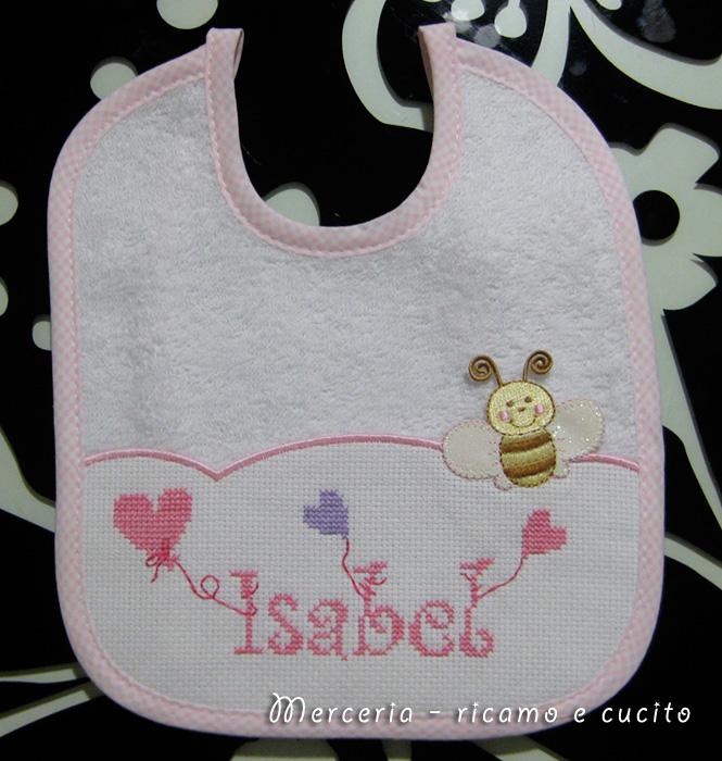 Estremamente Bavette personalizzate per Isabel | Gift IZ85