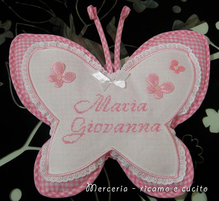 Fiocco nascita farfalla per Maria Giovanna