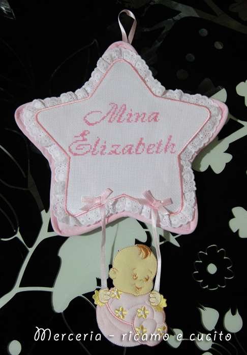 Fiocco nascita stella per Mina Elizabeth