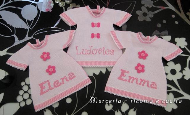"""Magliette auto """"bimba a bordo"""" per Elena, Emma e Ludovica"""