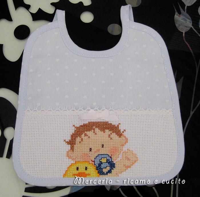 Favoloso Bavetta con cuoricini e bebe' | Gift BL38