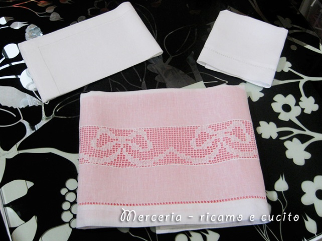 Set lenzuolino per carrozzina in lino