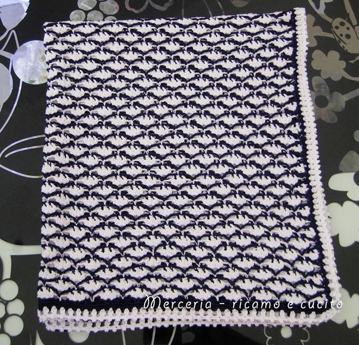 Baby blanket – Copertina in cotone all'uncinetto per carrozzina ...
