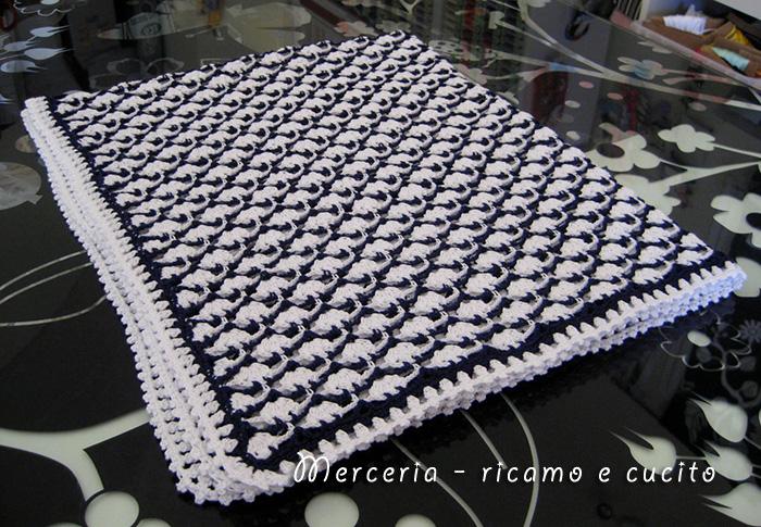 Molto Baby blanket – Copertina in cotone all'uncinetto per carrozzina | Gift TE14
