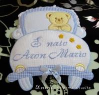 coccarda-fiocco-nascita-macchina-per-Aron-Mario-1