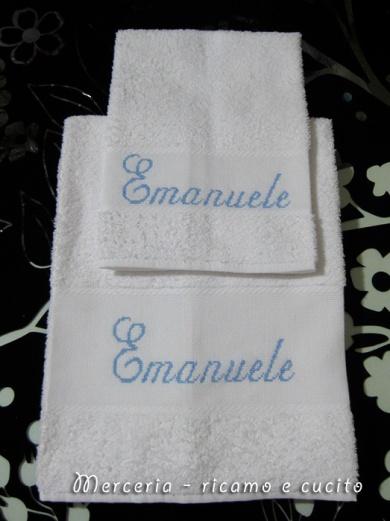 Coppia-asciugamani-in-spugna-per-Emanuele-1