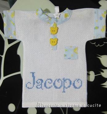 Maglietta auto bimbo a bordo per Jacopo