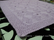 Copertina in lana per neonato con rombetti