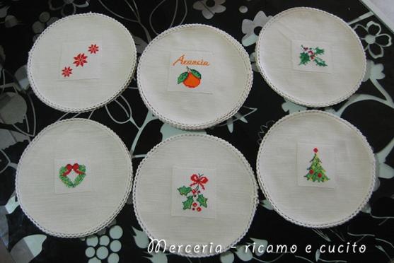 Copribarattoli per confettura natalizi