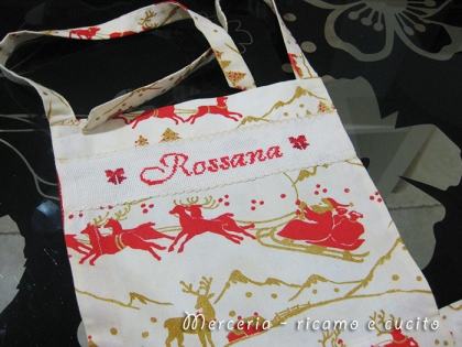 Grembiule natalizio con pettorina per Rossana