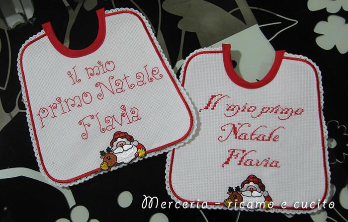 Maglietta per auto e bavette natalizie per Flavia