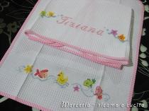 Coppia asciugamani in cotone nido d ape per Tiziana