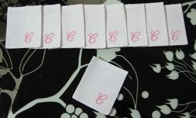 """Sacchettini bomboniere portaconfetti in tela aida con iniziale """"C"""""""