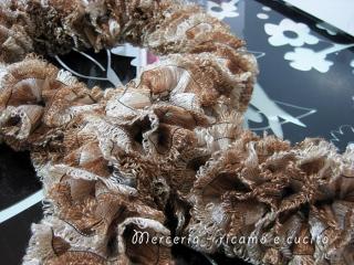 Sciarpa con lana a rete laminata