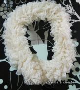 Sciarpa con lana merletto