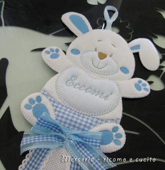 Fiocco nascita coniglio per Christian