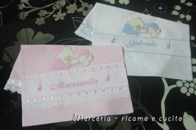 Sacchetti nascita con orsetto per Gabriele e Mariastella