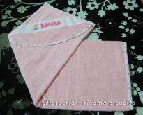Accappatoio neonata per Emma