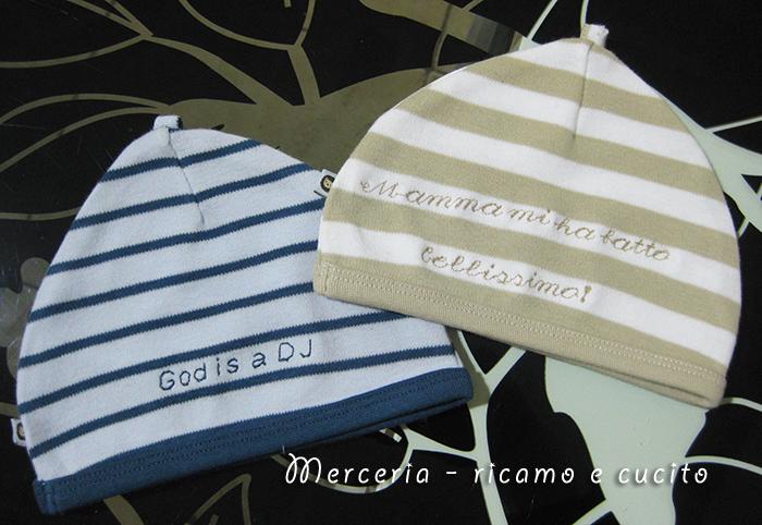 Cappellini in cotone personalizzati