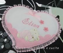 Fiocco nascita cuore per Elisa