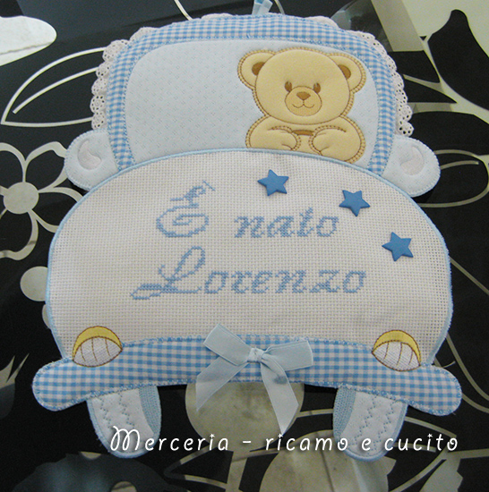 "The Car Shop >> Fiocco nascita macchina ""E' nato Lorenzo"" – GIFT"