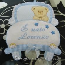 """Fiocco nascita macchina """"E' nato Lorenzo"""""""