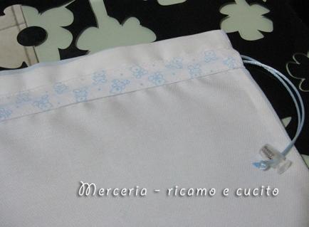 Busta portaoggetti e sacchetti nascita per Claudia