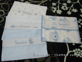 Busta portaoggetti e sacchetti nascita per ClaudiaBusta portaoggetti e sacchetti nascita per Claudia