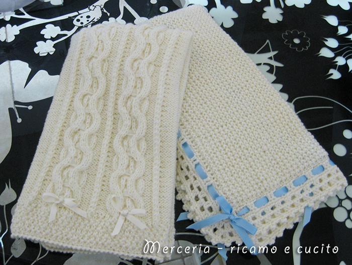 copertine in lana per neonato | gift - Copertine Lettino Neonato Ai Ferri
