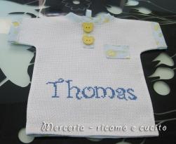 """Maglietta auto """"bimbo a bordo"""" per Thomas"""
