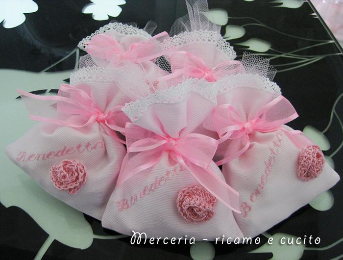 abbastanza sacchettini-bomboniera-porta-confetti-rosa-per-Benedetta | Gift IW11