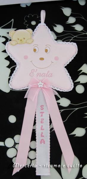 Bustina e fiocco nascita stellina per Stella