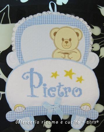 Fiocco nascita macchina celeste per Pietro