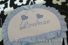 Fiocco nascita mongolfiera celeste per Lorenzo