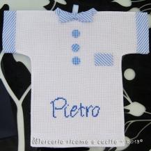 """Magliette auto """"bimbo a bordo"""" per Pietro e Tommaso"""